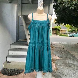 Floreat Turquoise Senna Swing Dress